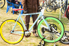 Bicycle prepared for the race Royalty Free Stock Photo