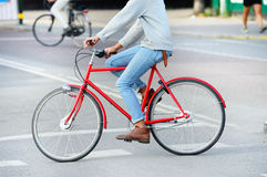 Bicycle in profile Stock Photography