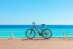 Bicycle on Promenade des Anglais. Royalty Free Stock Image