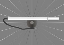Bicycle pump. Royalty Free Stock Image