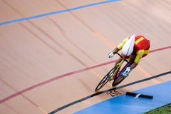 Bicycle Race. Team pursuit cycling championship at a velodrome Royalty Free Stock Photos