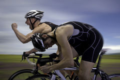 Bicycle Race. Finish the race and win Royalty Free Stock Images