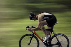 Bicycle Race. Finish the race and win, with blur background Stock Images