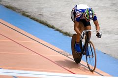 Bicycle Race. Individual cycling time trials at a velodrome Stock Photos