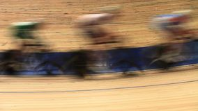 Bicycle race blurred motion Royalty Free Stock Photo