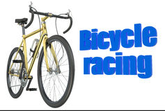 Bicycle race concept isolated Royalty Free Stock Photo