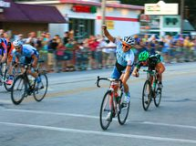 Bicycle race finish line Royalty Free Stock Image