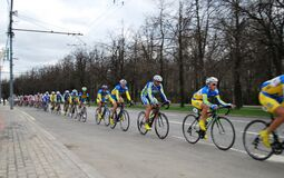 Bicycle race `Five rings of Moscow`