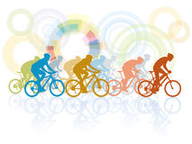 Bicycle race. Group of cyclist in the bicycle race royalty free illustration
