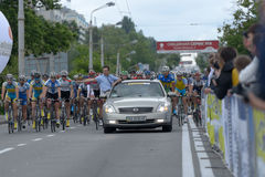 Bicycle Race Horizon Park 2013 in Kiev Royalty Free Stock Image