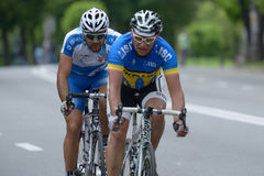 Bicycle Race Horizon Park 2013 in Kiev Stock Photography