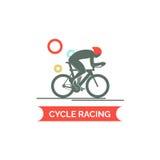 Bicycle race logo Stock Photo