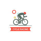 Bicycle race logo. Flat style  illustrations Stock Photo
