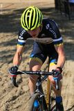 Bicycle Race in the sand course Stock Photo