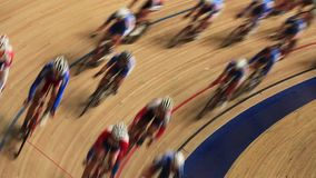 Bicycle race speed blurred motion sequence stock footage