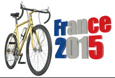 Bicycle race  Tour de France 2015 concept. Bicycle race  France 2015 concept isolated on white background Stock Image