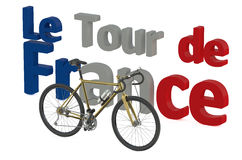 Bicycle race  Tour de France concept Stock Photos