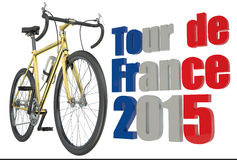 Bicycle race  Tour de France concept. Bicycle race  Tour de France 2015 concept isolated on white background Royalty Free Stock Image