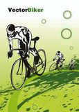 Bicycle race -vector Royalty Free Stock Image