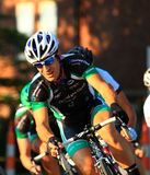 Bicycle racer action Stock Image