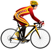 Bicycle racer, cycle race derby. Bicycle racer realistic vector illustration, cycle race derby sport series Royalty Free Stock Photo