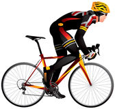 Bicycle racer 2 dynamic start, cycle race derby Royalty Free Stock Photo