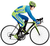 Bicycle racer 3 Royalty Free Stock Images