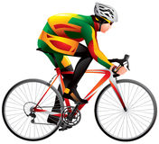 Bicycle racer 4 Royalty Free Stock Images