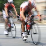 Bicycle Racers Stock Photos