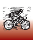 Bicycle racing. Hand drawn illustration of bicycle racing Royalty Free Stock Photos