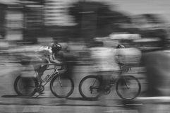 Bicycle racing Royalty Free Stock Images
