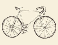 Bicycle, Racing Bike, Hand Drawn, Sketch Stock Photography