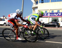 Bicycle racing dubai Stock Photography