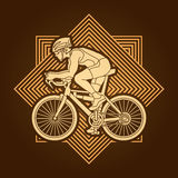 Bicycle racing graphic vector Stock Photography
