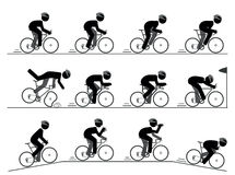 Bicycle racing pictogram Stock Images