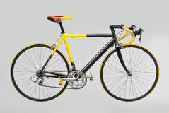 Bicycle Racing.psd. Yellow Black Bicycle Racing on white background Stock Photography