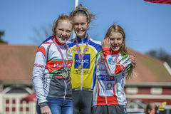 Bicycle racing, road - race (awards ceremony for the youngest) Stock Photo