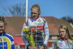 Bicycle racing, road - race (awards ceremony for the youngest) Royalty Free Stock Images