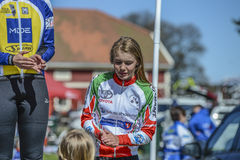 Bicycle racing, road - race (awards ceremony for the youngest) Stock Image
