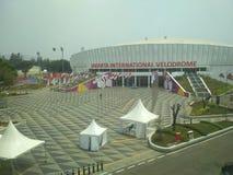 Stadium international velodrome. Bicycle racing stadium in Jakarta Stock Photo
