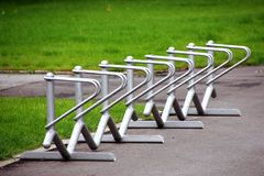 Bicycle rack Royalty Free Stock Images