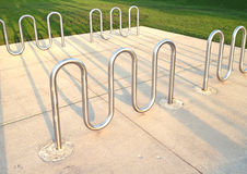 Bicycle rack Royalty Free Stock Photography