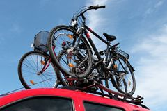 Bicycle rack Royalty Free Stock Photo