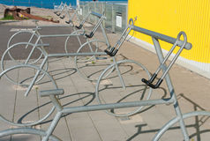 Bicycle racks Stock Photo