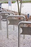Bicycle racks Royalty Free Stock Photography