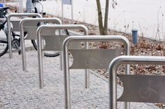 Bicycle racks Stock Image