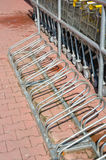 Bicycle racks Stock Photography