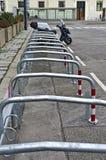 Bicycle racks Stock Photo