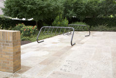 Bicycle racks Royalty Free Stock Photo