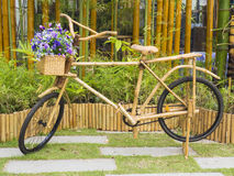 Bicycle ready to ride, made of bamboo Royalty Free Stock Photography